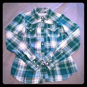 🔴3 for $10 Western plaid cotton pearl snap shirt